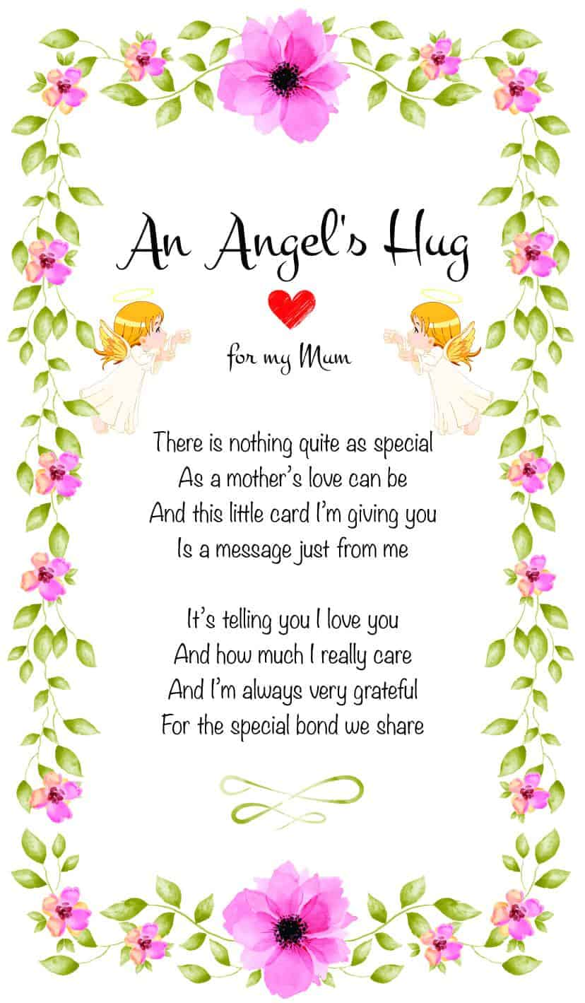 An Angel's Hug for my mum
