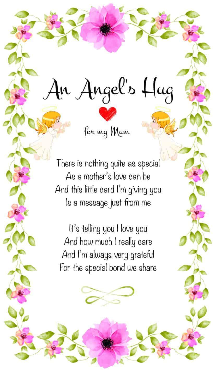 An Angel's Hug for my mum