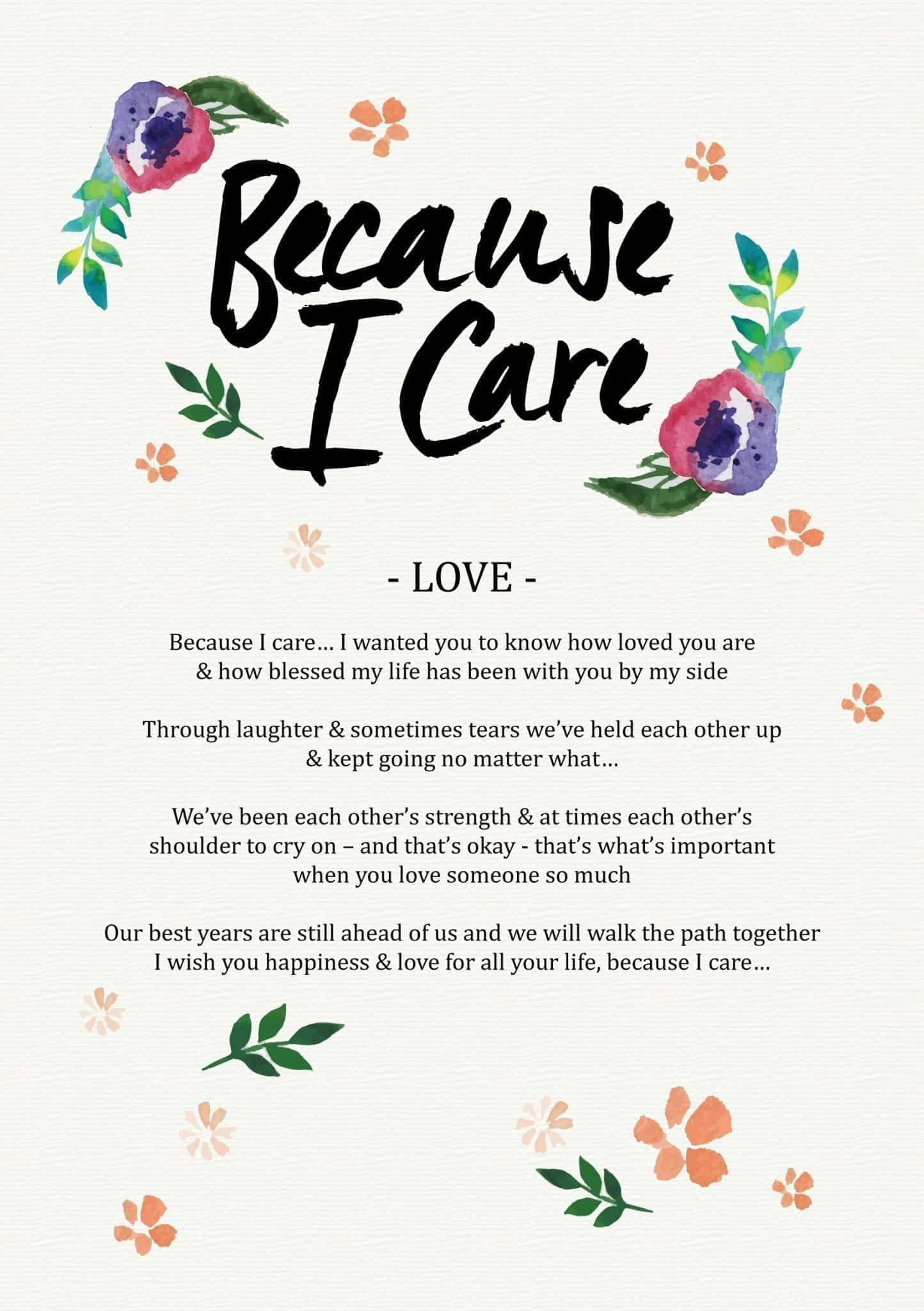Because I Care Love