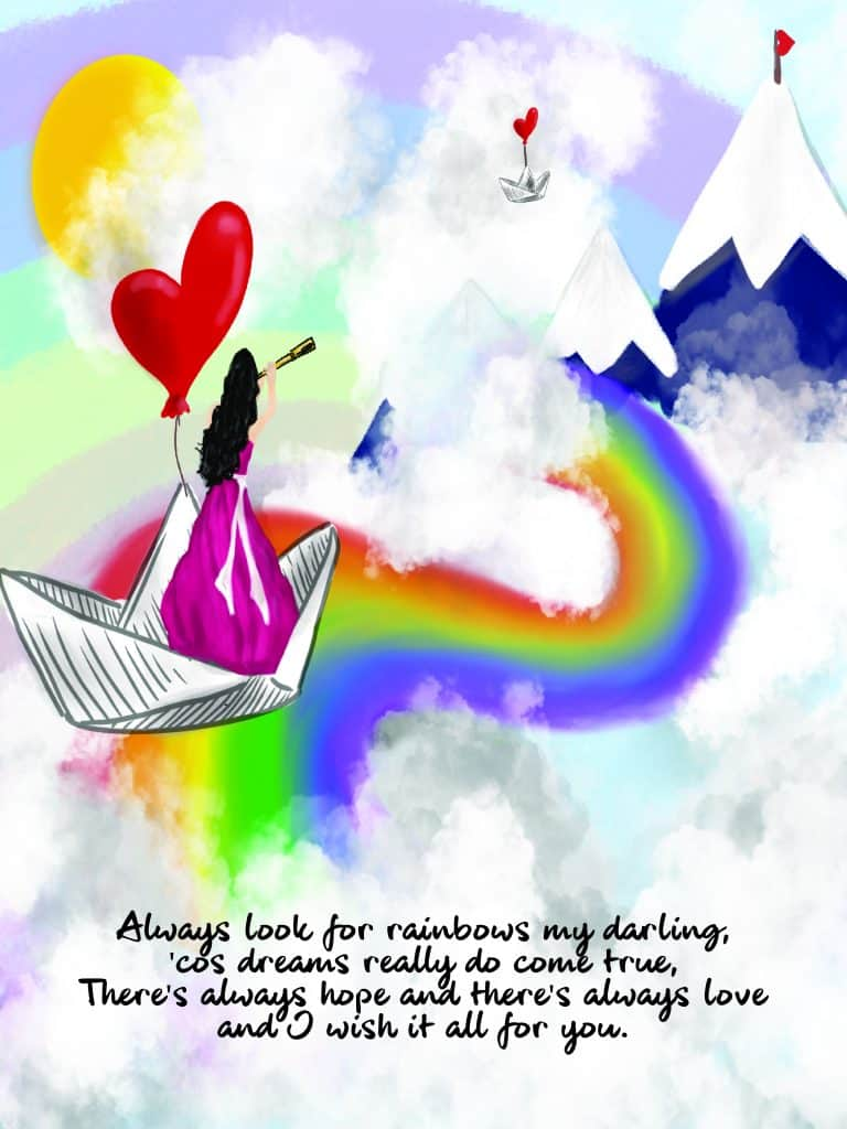 Inspiration Range Rainbow Print