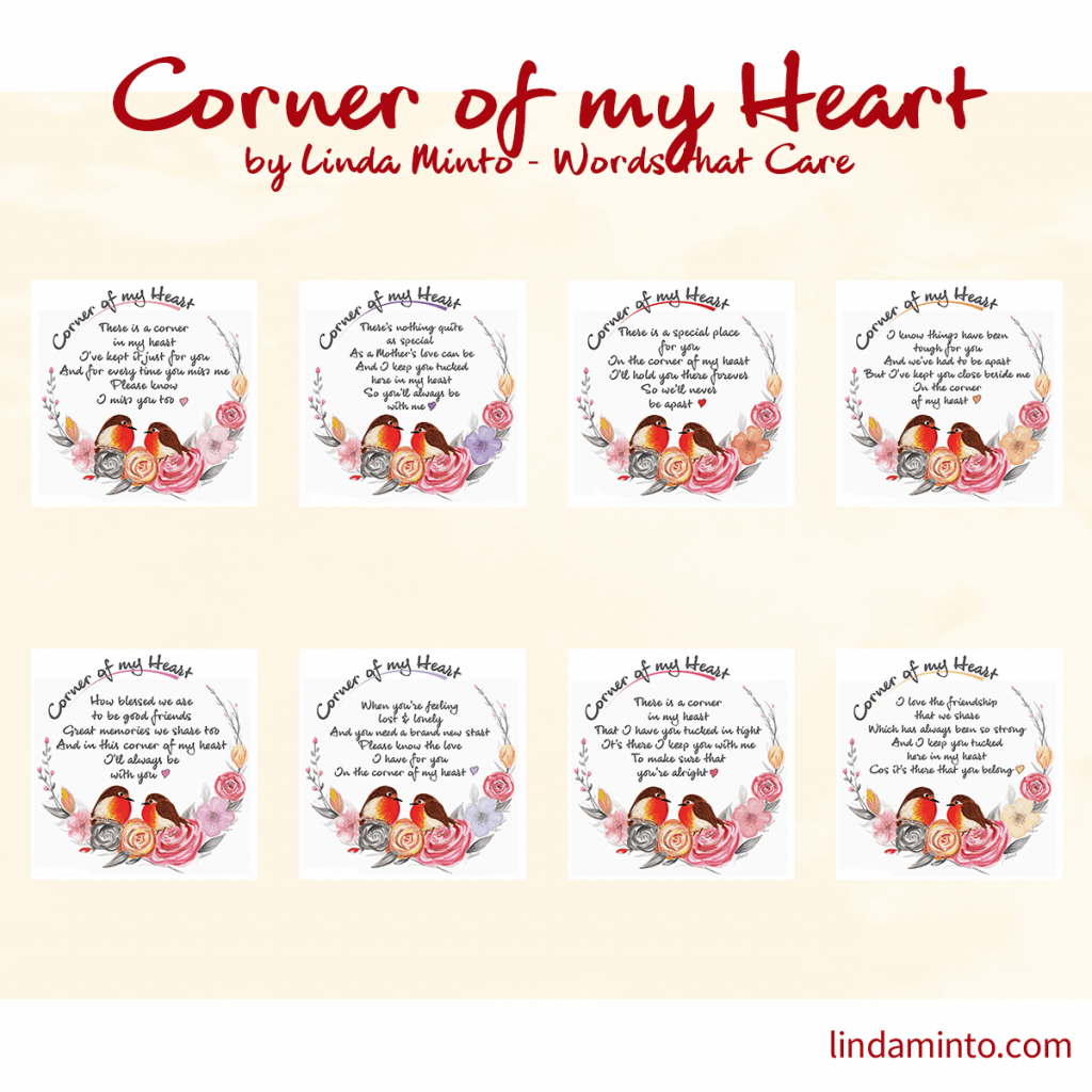 corner of my heart cards